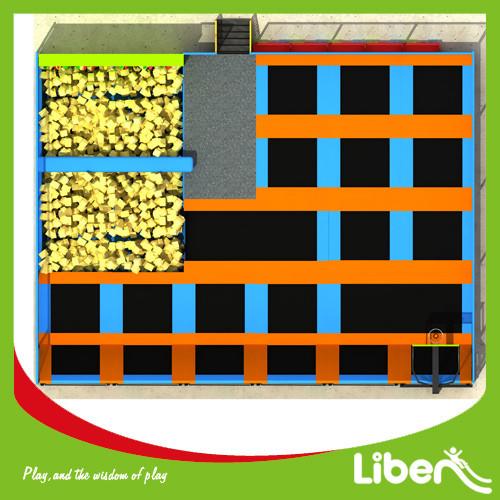 Liben ASTM Standard With Foam Pit Indoor Children Trampoline Park