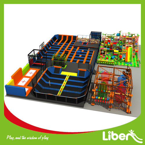 Liben ASTM Standard Large Children and Adults Indoor Commercial Trampoline Park