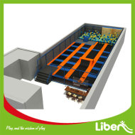 Small Rectangular Trampoline Park Long Jumping Mats with Foam Pit