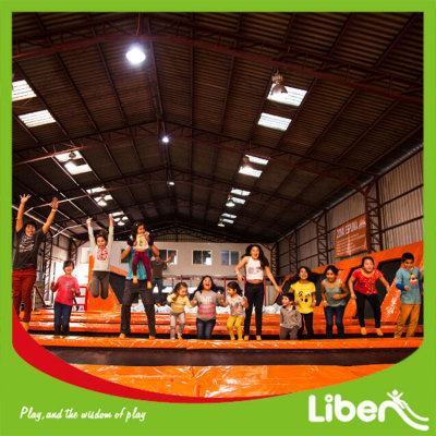 Massive Continuous Jumping Areas Sky Jump Gravity Zone Trampoline Park Indoor