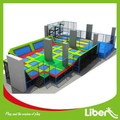 Big Amazing Trampoline Park with Basket Ring and Airbag