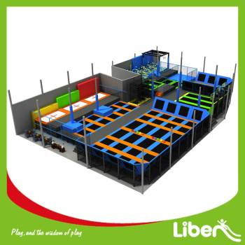 Indoor Gymnastic Trampoline with Foam Pit