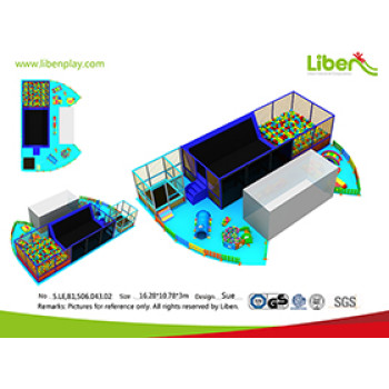 Indoor playground customization, foam pit, large trampoline.