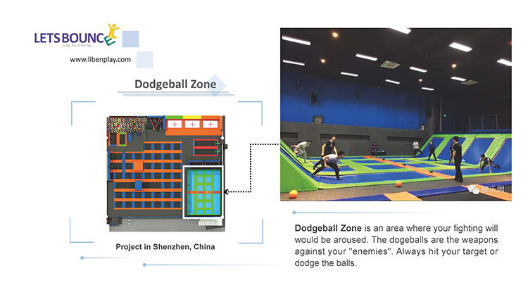 Trampoline park Dodgeball Zone