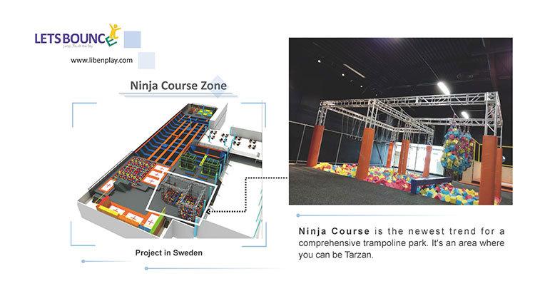 Trampoline park Ninja Course Zone