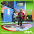 With Dodgeball Area Inside Trampoline Park Builder