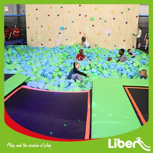 With Free Jump Area Indoor Trampoline Park Builder
