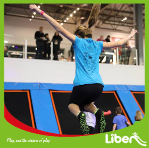 Customized Design With Jumping Box Indoor Trampoline Park Builder