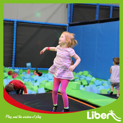 Customized Design With Jumping Box Indoor Trampoline Arena builder