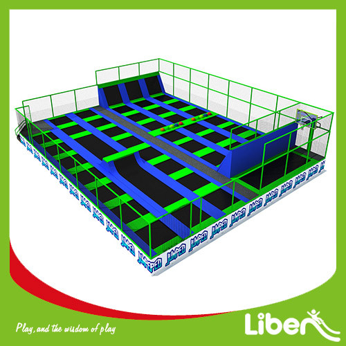 TUV APPROVED LARGE OUTDOOR BOUNCE TRAMPOLIN PARK BUILDER