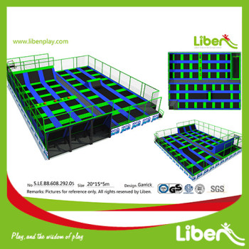 TUV APPROVED LARGE OUTDOOR TRAMPOLIN PARK BUILDER WITH TENTS INDONESIA
