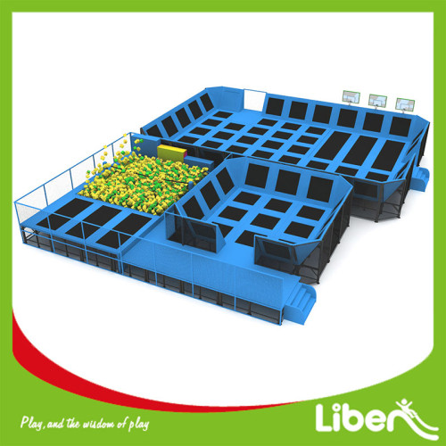 Sky Blue Color Hot Sell Indoor Trampoline Park Commercial