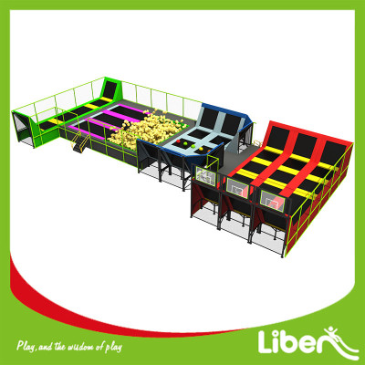 Multi Color Special Design Indoor Trampoline Park Kids
