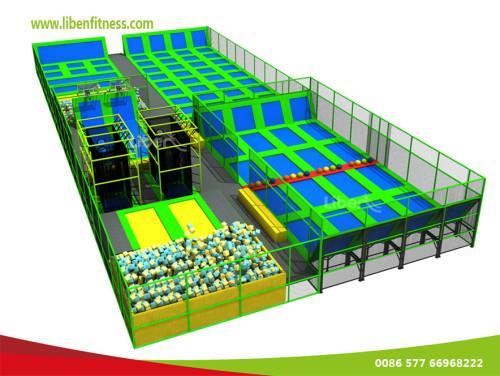 China trampoline park manufacturer to build indoor commercial trampoline park