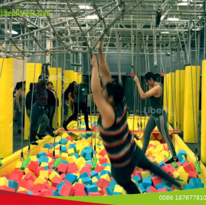 where can play the indoor ninja course inside trampoline park in Las Vegas,USA?