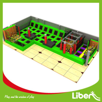 With Customized Ninja Course Indoor Trampoline Manufacturer