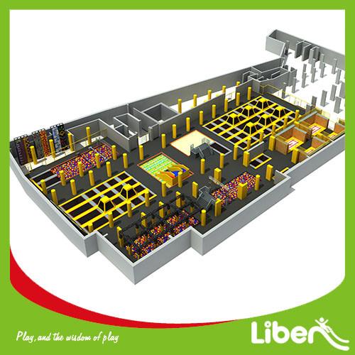 2000 Square Meters Indoor Trampoline Park Builder