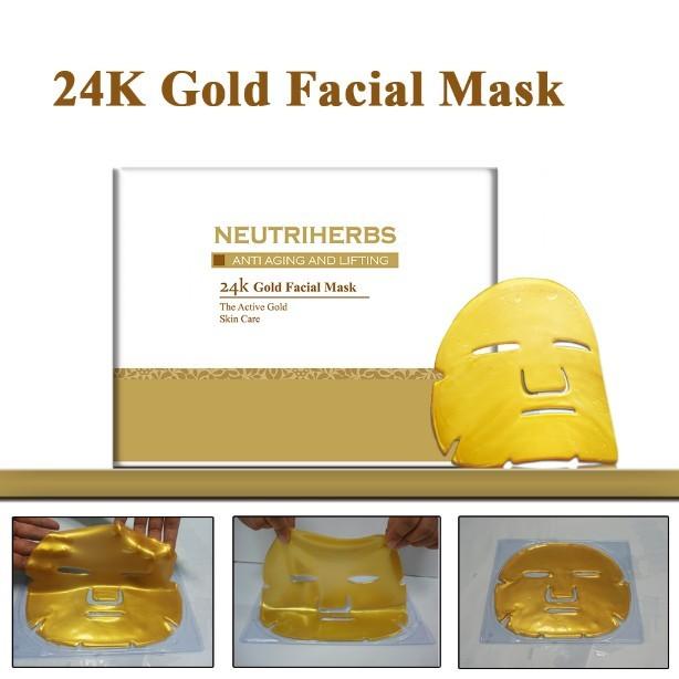24 karat gold mask