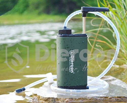 Diercon new design water filter outdoor camping hiking portable water purifier