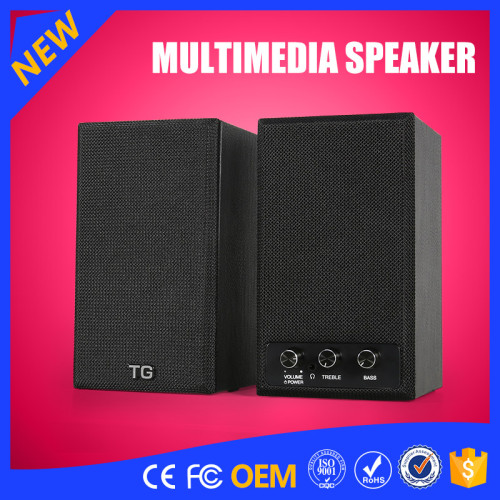 YOMMO 2016 New Multimedia 2CH Wooden Speakers System Bass Speaker