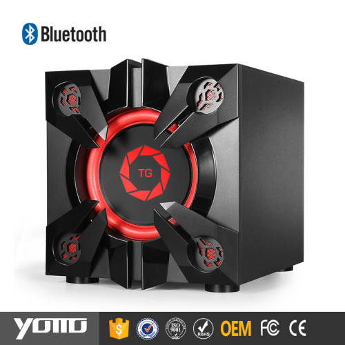 YOMMO new products 2017 2.1 creative powered gm wooden bluetooth speaker