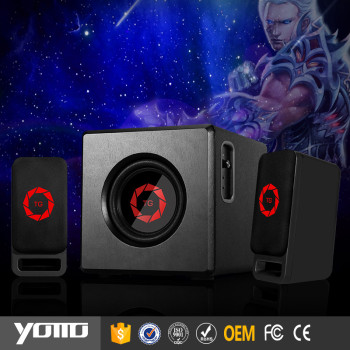 YOMMO 2.1 multimedia wooden speaker with 30w for gm