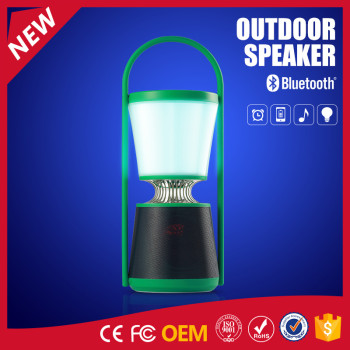 YOMMO 2017 new outdoor buletooth waterproof speaker with lamp and app control