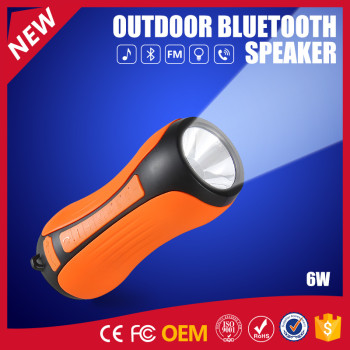 YOMMO 2016 New Outdoor Mini Bluetooth Waterproof Speakers with Flashlight