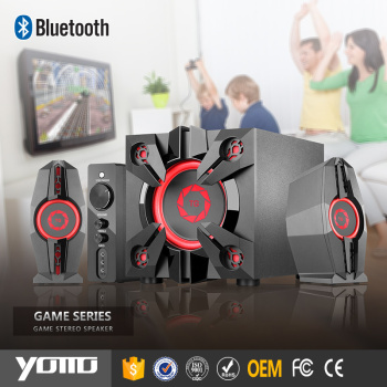 YOMMO new products 2.1 bass game wooden speaker with 50w