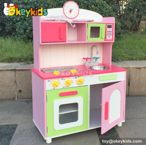 Emulational kid craft wood kitchen toy set role play toy W10C175