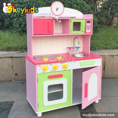 Emulational kid craft wood kitchen toy set role play toy W10C175