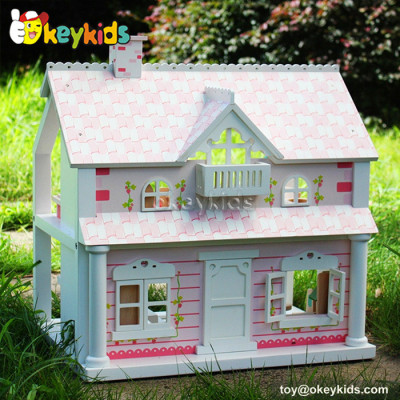 Lovely kids diy toy wooden doll house W06A041B