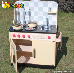Pretend play children wooden kitchen toy W10C170