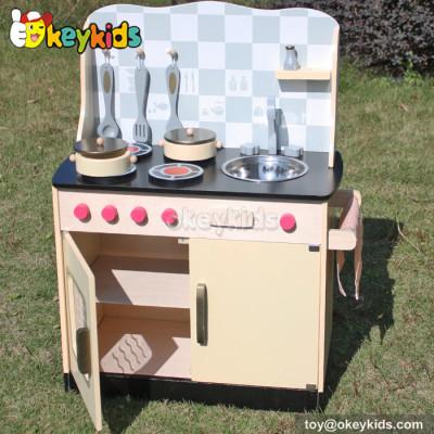 Pretend play children wooden kitchen toy W10C170