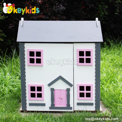 Handmade kids toy wooden mini doll house W06A154