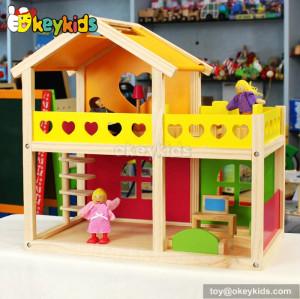 Sunshine holiday kids diy wooden toy mini villa W06A157