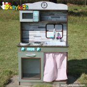 Role play children wooden kitchen toy set W10C171