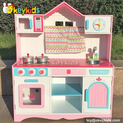 Preschool children wooden play kitchen toy W10C172