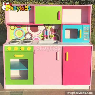 Role play wooden big kitchen set toy for children W10C173