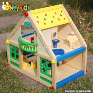 Classical kids diy wooden toy cottage with furniture W06A106