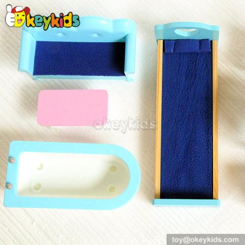 Fancy castle wooden doll house toy for children W06A102