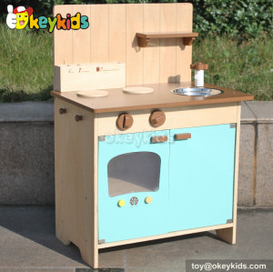 Wooden kitchen toy kids cooking pretend play set W10C176