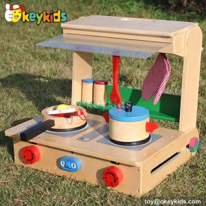Okeykids Tabletop children toy wooden kitchen play set W10C177