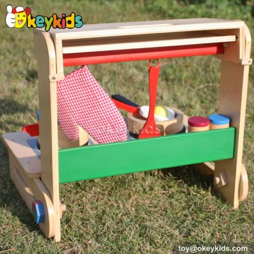 Okeykids Tabletop children toy wooden kitchen play set W10C177