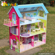 Okeykids Lovely family wooden toys doll house for girls W06A104