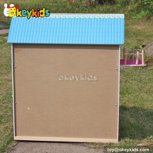 Okeykids Lovely family wooden toys doll house for girls W06A104