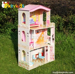 Little princess wooden toys doll house W06A159