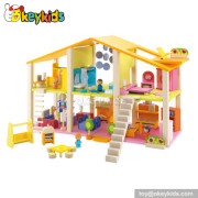 The dreamhouse kids wooden doll house W06A057