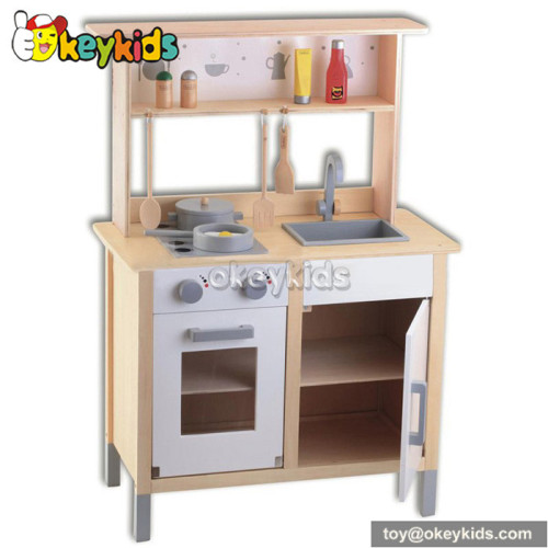 Cooking play wooden toy kitchen for children W10C154