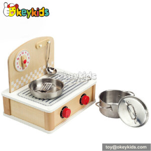 Tabletop cook and grill wooden play kitchen set W10C159